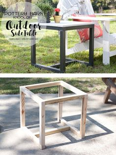 DIY {Pottery Barn Knock-Off} Outdoor Side Table | Southern Revivals