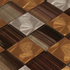 Santa Vincent Brick Mosaic Glass & Metal Tile