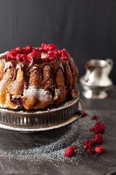 Raspberry Chocolate Coffee Cake #raspberry #chocolate #coffee #cake #dessert #sweet #snack #pastry #recipe #recipes