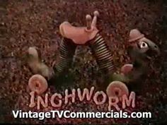 Vintage INCHWORM TV Commercial of the 70's
