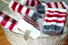 Red White and Blueberry Yogurt Popsicles