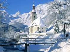 winter snow, mountain, bavaria, churches, snow pictures, germany, desktop wallpapers, winter scenes, christma