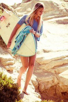 girl with a board