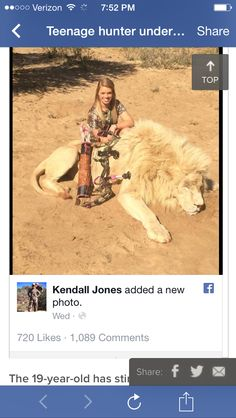 Kendall Jones. Just a pathetic little girl, and her fans are scum.