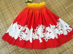 women's hula pa'u skirt has a blending of bright by SewMeHawaii, $45.00