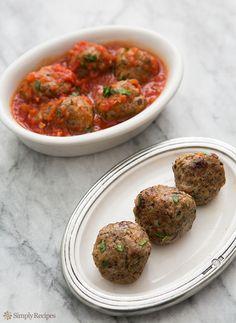 Turkey Mushroom Meatballs: Nice healthy alternative.