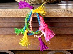 How to make a tassel stretchy bracelet