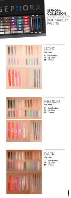 #Sephora Collection Artist Box Color Palette #eyecandy