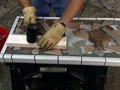 This site has step by step instructions on how to add a mosaic to a table top.