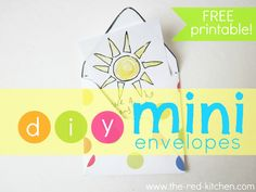 DIY Mini Envelopes: Free Printable Pattern & Tutorial    www.the-red-kitchen.com