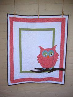 Owl quilt.  use a cuter owl.