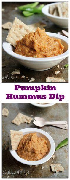 Pumpkin Hummus Dip   www.diethood.com   The best way to eat savory-pumpkin!