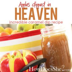 Caramel sauce for dipping apples! The perfect autumn snack!