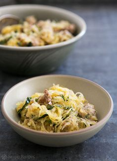 Roasted Spaghetti Squash with Sausage and Kale Recipe