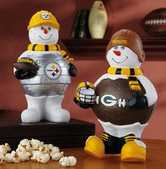NFL Football Team Snowman Figurine