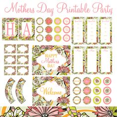 Mothers Day Party printables....closed now!!! Cn still order from etsy