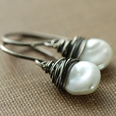 Keishi Pearl and Sterling Silver earrings by aubepine on Etsy, $31 (lots of pretty things in this shop!)