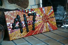 Stained Glass House Number by Mayahelena, via Flickr stain glass, glass houses, stained glass