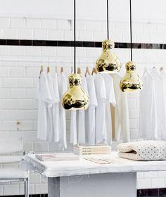 gold mini pendant lamps