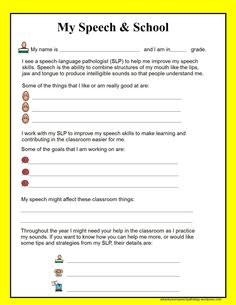 IEP Sheets from SLP to Teacher-free downloads of communication sheets focusing on different areas; speech, language, voice, stuttering, auditory processing, and social skills. From Adventures in Speech Pathology. Pinned by SOS Inc. Resources @sostherapy.