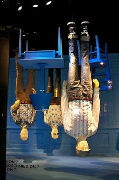 Got the nerve to hang your mannequins  upside down? wonders Auntie Kate. After all, resale and consignment turn shopping for new clothes upside down, right?