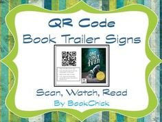 qr codes book trailers, book trailers for kids, code book