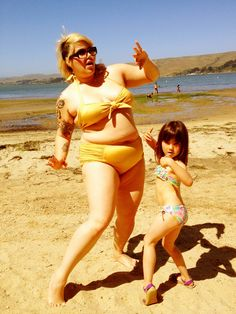 """Body-positive parenting: """"My daughter and I had a beach party. I played records and we did the twist in our bikinis. Bellies are awesome!"""" by The Jaded Neighbor"""