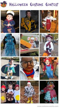 Homemade Costumes for Babies - a huge gallery of homemade Halloween costumes!