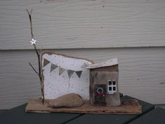 Driftwood house (with a holiday theme)