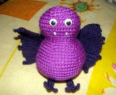 Adorable Crocheted Vampire Bat #crochet pattern by Aluajala's Cockroaches