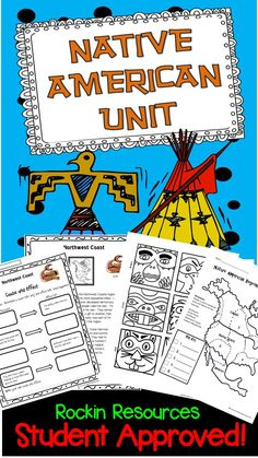 $. This is one of my favorite units! It motivates students to learn about the Native Americans of North America (Eastern Woodlands, Great Plains, Southwest, Northwest Coast, Southeast). For each region, there is a 2-page informational text and comprehension questions. In addition, create a Native America name, Picture Writing, Project, Study chart, Map of the regions, Dream Catcher project and writing, Totem Pole Craft and writing, rain dance instructions, acrostic poem, quiz and rubrics.