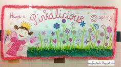 Bulletin Board for Kindergarten #school #spring #classroom #Pinkalicious
