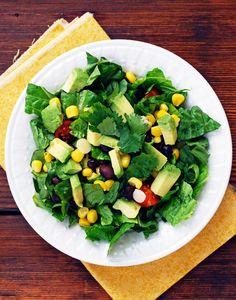 Southwest Salad with Cilantro Lime Dressing