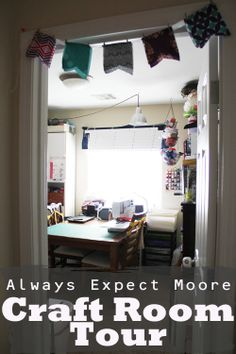 Always Expect Moore Craft Room Tour - full 360 degree look at how everything fits into one room!