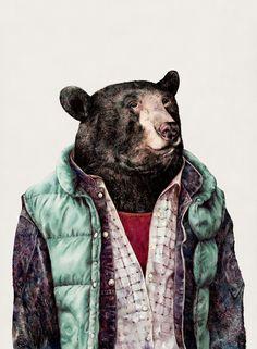 """Black bear"" Art Print by Animal Crew on Society6."
