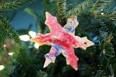 Melted Crayon Salt Dough Ornaments ~ The Artful Parent