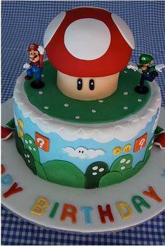 mario cake, happy birthdays, super mario brothers, mario birthday party, groom cake