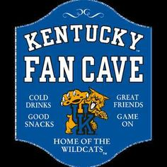 Kentucky Wildcats Fan Cave Sign