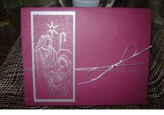 Holy Family in rich razzleberry by Patricia Wesling - Cards and Paper Crafts at Splitcoaststampers