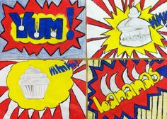 Roy Lichenstein Pop Art, 6th grade graphic arts