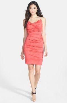 Nicole Miller Ruched Metallic Sheath Dress | Nordstrom