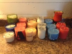 batch of candles for sale! check out my shop to purchase!  https://www.etsy.com/shop/YellowHouseCandleCo
