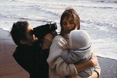 """ Serge, Jane, and Charlotte on Compton Beach, 1971. """
