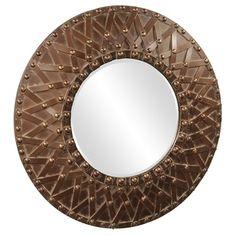 Howard Elliott Wagner Round Mirror
