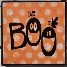 PLEASANT HOME: Boo and Spooky Wood Signs