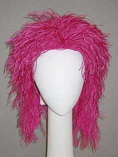Halston feather hat