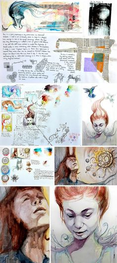GCSE Art exam - development towards final piece by Samantha Li