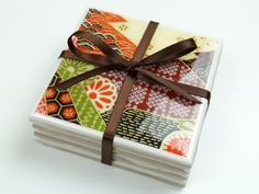 DIY coasters with tiles