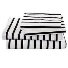 Full Noir Stripe Sheet Set