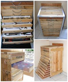 Pallet Tool trolley / Servante d'Atelier #Furniture, #Pallets, #Tools, #Trolley, #Upcycled
